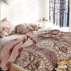 UO Magical Thinking Boho-Stripe Duvet Cover